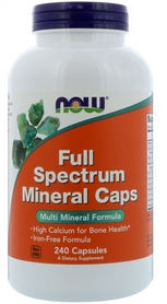 Витамины Now Full Spectrum Mineral Caps, 240 капсул
