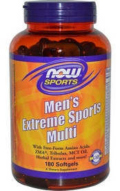Витамины Now Men's Extreme Sports Multi, 180 капсул