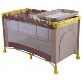 Манеж-кровать Lorelli Bertoni Penny 2 Layers Beige&Yellow