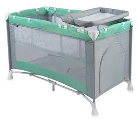 Манеж-кровать Lorelli Bertoni Penny 2 Layers Green&Grey