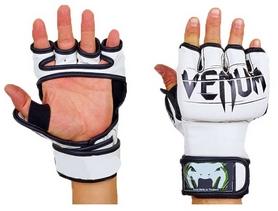 Перчатки для смешанных единоборств MMA PU Venum BO-5699-W бело-черные