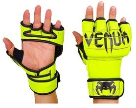 Перчатки для смешанных единоборств MMA PU Venum BO-5699-Y желтые