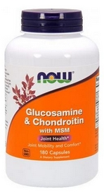 Спецпрепарат Now Glucosamine & Chondroitin with MSM, 180 капсул