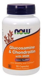 Спецпрепарат Now Glucosamine & Chondroitin with MSM, 90 капсул