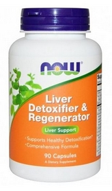 Спецпрепарат Now Liver Detoxifier & Regenerator, 90 капсул