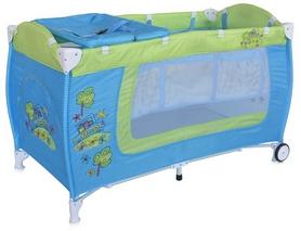 Манеж-кровать Lorelli Danny 2 layers blue&green car