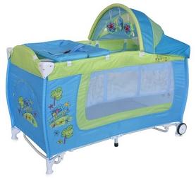 Манеж-кровать Lorelli Danny 2 layers rocker blue&green car