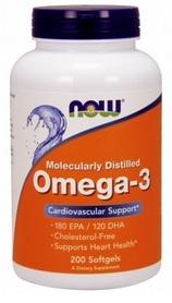 Спецпрепарат Now Omega 3, 200 капсул * 1000 мг
