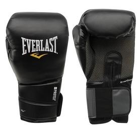 Перчатки боксерские Everlast Protex 2 Leather черные