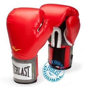 Перчатки боксерские Everlast PU Pro Style Training Gloves красные