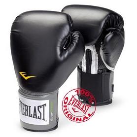 Перчатки боксерские Everlast PU Pro Style Training Gloves черные