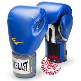 Перчатки боксерские Everlast PU Pro Style Training Gloves синие