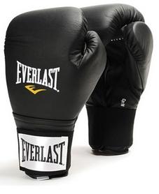 Перчатки боксерские Everlast Training Gloves Velcro черные