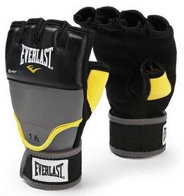 Перчатки снарядные с утяжелителем (1 кг) Everlast Weighted Gel черные