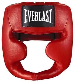 Шлем для единоборств Everlast MMA Leather full красный