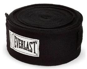 Бинт боксерский Everlast черный, 4.55 м