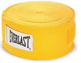 Бинт боксерский Everlast желтый, 4.55 м