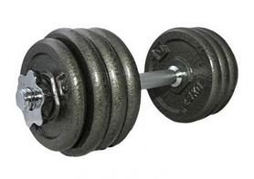 Гантель наборная стальная LiveUp Dumbell Set LS2311-20, 20 кг