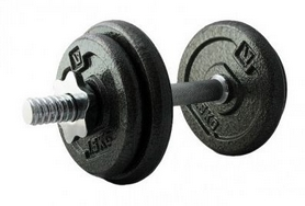 Гантель наборная стальная LiveUp Dumbell Set LS2311-10, 10 кг
