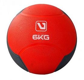 Мяч медицинский (медбол) LiveUp Medicine Ball LS3006F-6 красный, 6 кг