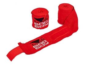 Бинт боксерский Bad Boy MA-5464-3(R) красный, 3 м