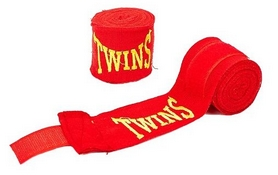 Бинт боксерский Twins MA-5466-3(R) красный, 3 м