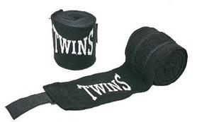 Распродажа*! Бинт боксерский Twins MA-5466-3(BK) черный, 3 м