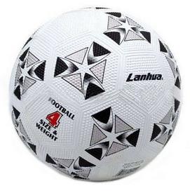 Мяч футбольный Soccer бело-черный №4