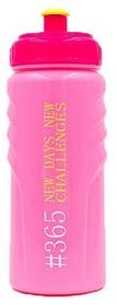Бутылка для воды спортивная Tritan 365 New Days розовая, 500 мл