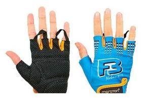Перчатки для фитнеса Maraton сине-оранжевые