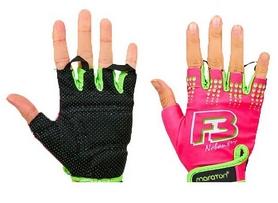 Перчатки для фитнеса Maraton розово-салатовые