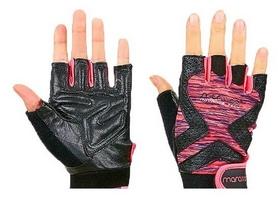 Перчатки для фитнеса женские Maraton черно-розовые