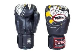 Перчатки боксерские Twins FBGV-15-BK черные