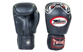Перчатки боксерские Twins FBGV-25-BK черные
