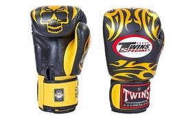 Перчатки боксерские Twins FBGV-31-BK черные