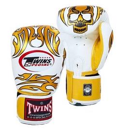 Перчатки боксерские Twins FBGV-31G-WH бело-золотые