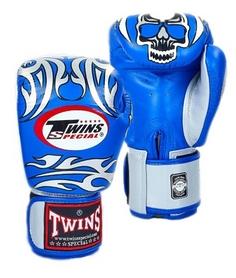 Перчатки боксерские Twins FBGV-31S-BU синие - 12 Oz