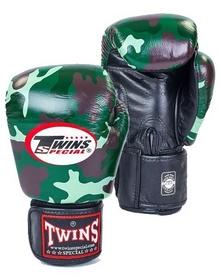 Перчатки боксерские Twins FBGV-JG зеленые
