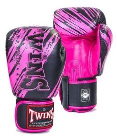 Перчатки боксерские Twins  FBGV-TW2PK черно-розовые
