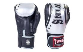 Перчатки боксерские Twins FBGV-TW4-BKS черно-серые