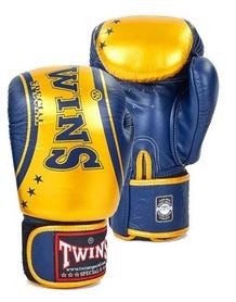 Перчатки боксерские Twins FBGV-TW4-BUG желто-синие