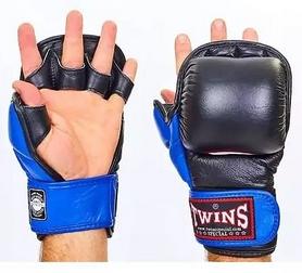 Перчатки для ММА Twins GGL-1-BU черно-синие