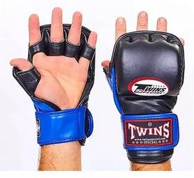 Перчатки для ММА Twins GGL-2-BU черно-синий