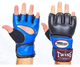 Перчатки для ММА Twins GGL-4-BU черно-синие