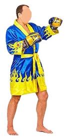 Халат боксерский Twins FTR-2 сине-желтый