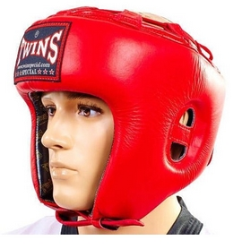 Шлем боксерский с бампером Twins HGL-RD красный