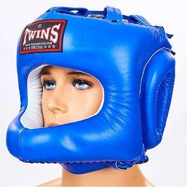 Шлем боксерский с бампером Twins HGL-9-BU синий