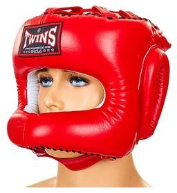 Распродажа*! Шлем боксерский с бампером Twins HGL-9-RD красный - XL