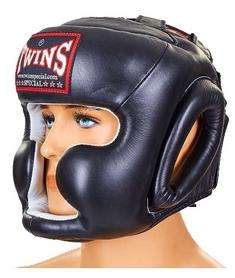 Шлем боксерский кожаный Twins HGL-3-BK черный