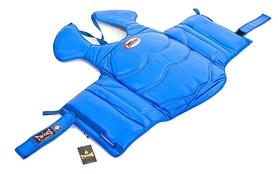 Защита корпуса и ключицы (жилет) для единоборств Twins BOPL-3-BU синяя